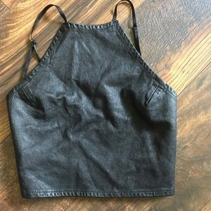 Tops - Cute leather top